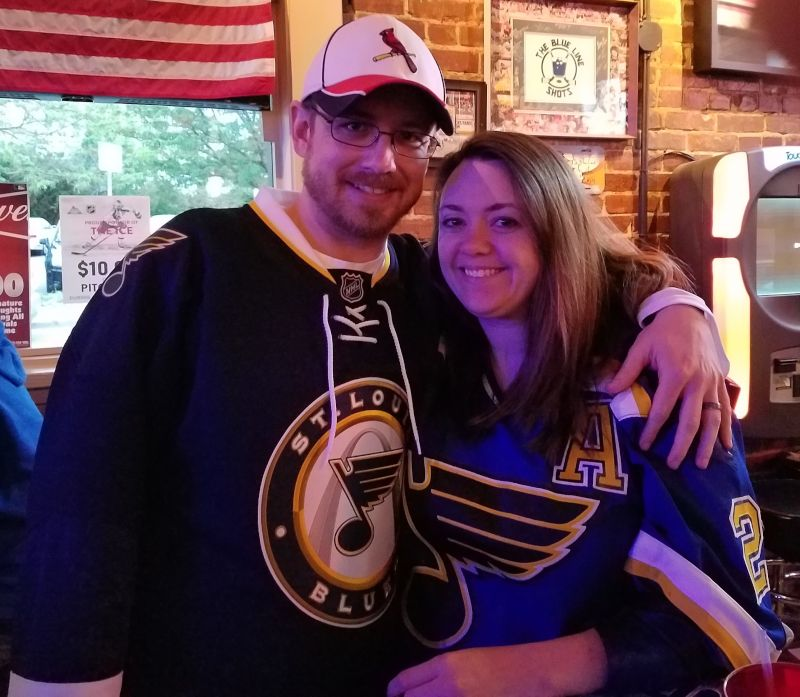 Cheering on the Blues!
