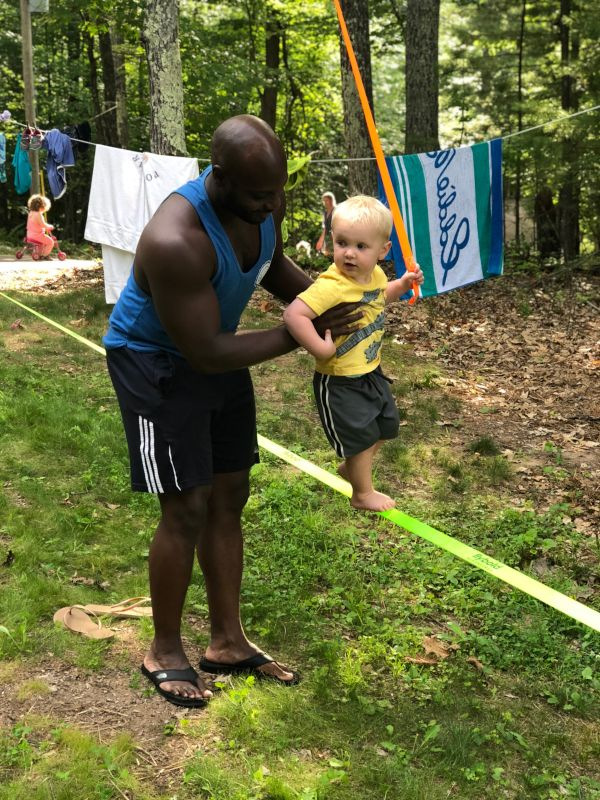 Getting Started Young on the Slackline!