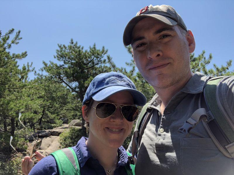 Climbing a Mountain in Maine