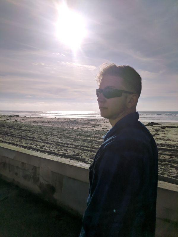 Visiting Shaun's Mom at the Beach