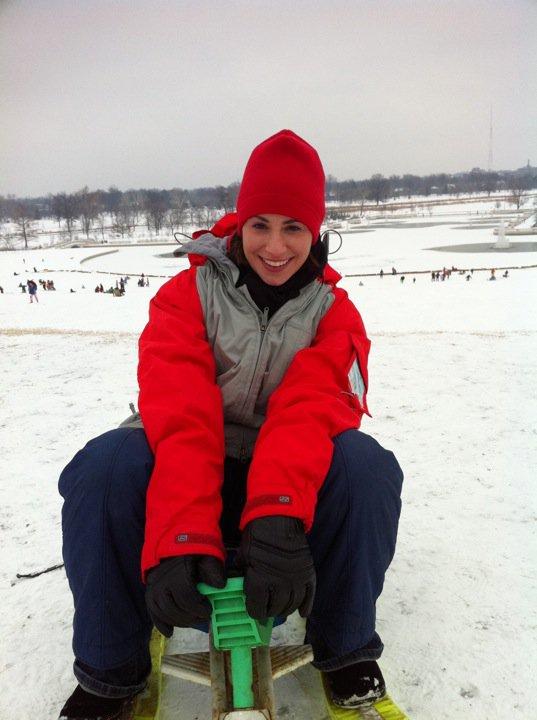Danielle Sledding