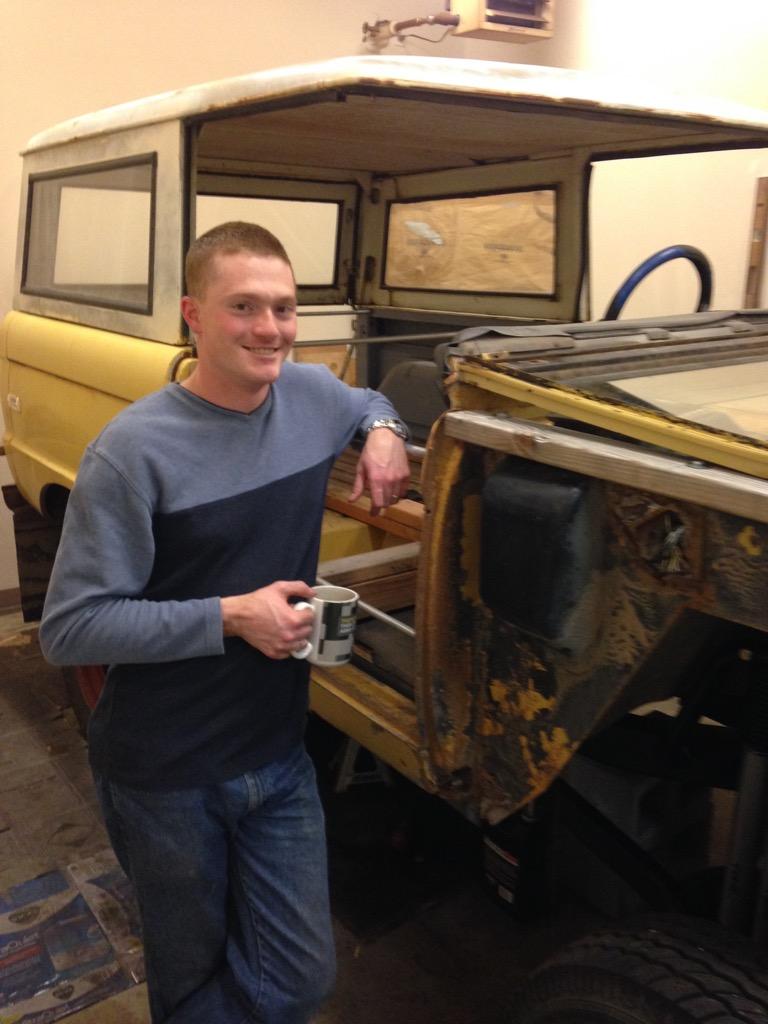 Jerrold Working on his Bronco