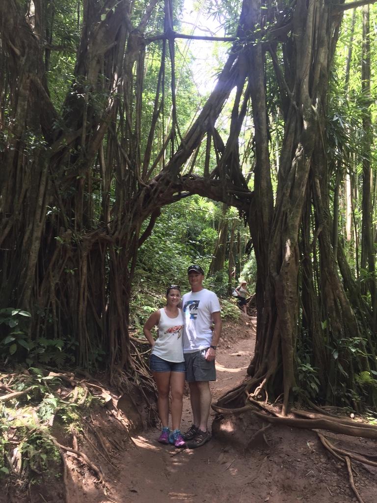 Hiking to Manoa Falls