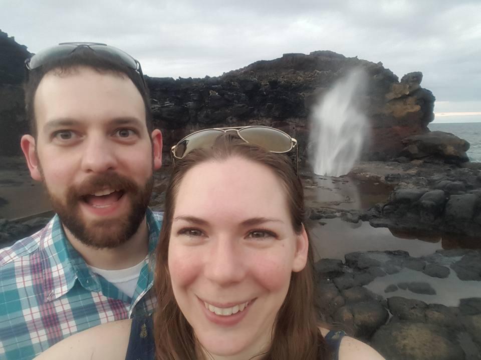 Blowhole in Hawaii