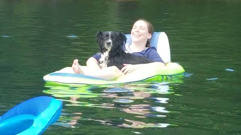 Floating at the Lake