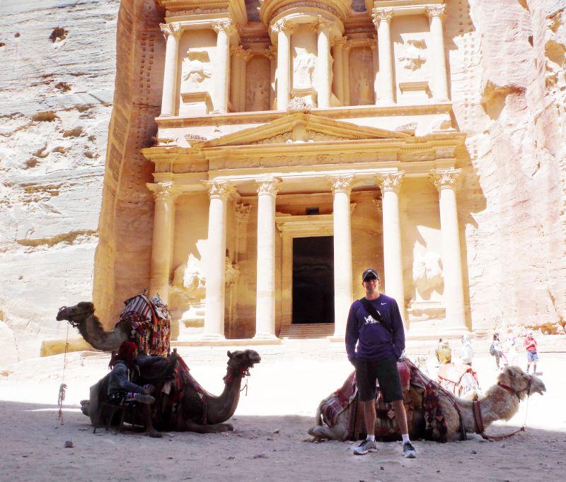 Zan Visiting Petra in Jordan