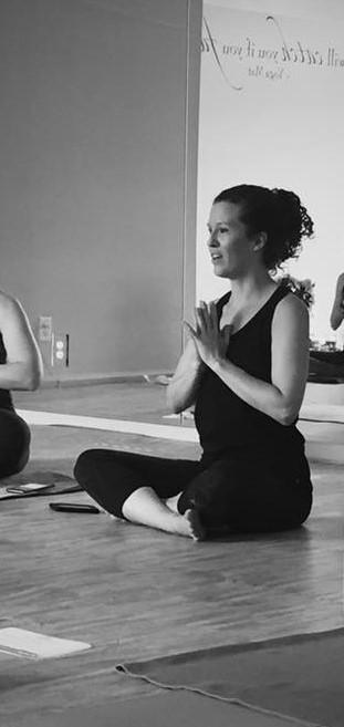 Billi Teaching a Yoga Class