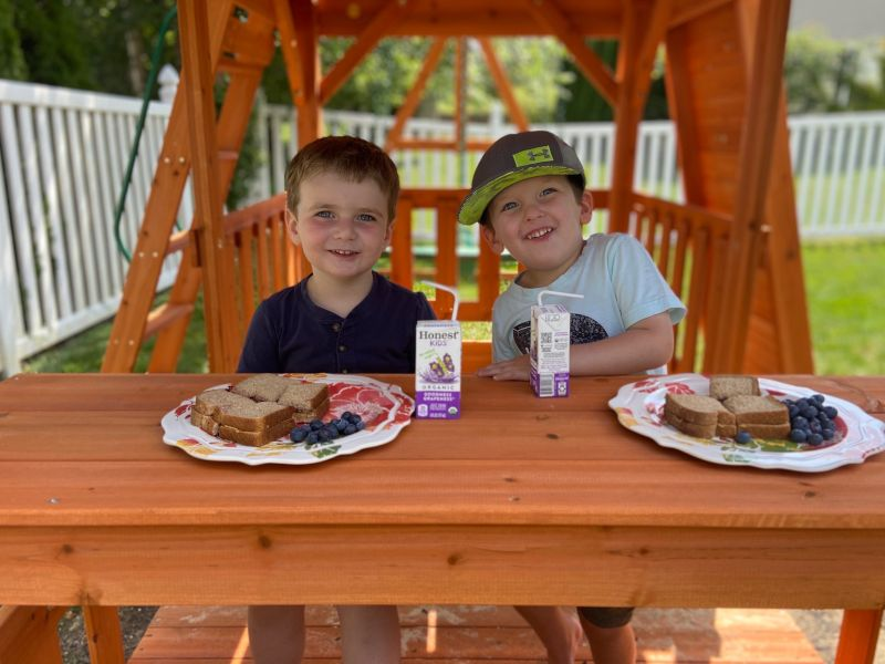 A Picnic Lunch With His Cousin (Born Only 10 Days Apart!)