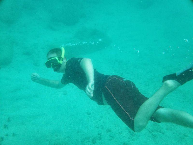 Erik Snorkeling in Cozumel