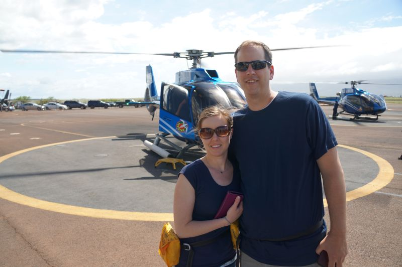 Before a Helicopter Tour in Hawaii