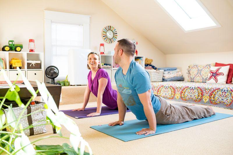 Yoga in Our Bonus Room