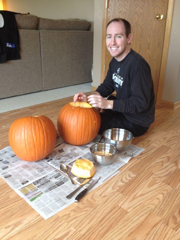 Carving Pumpkins for Halloween!