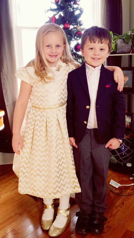 Andy's Kids on Our Wedding Day