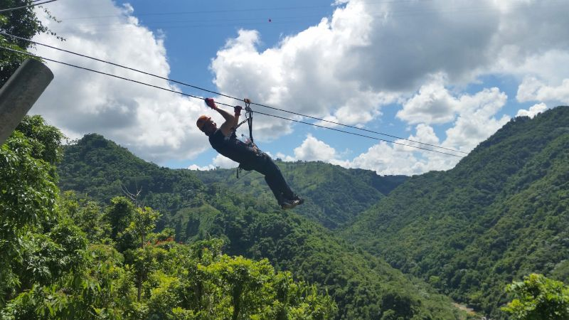 Jimmy is Ready to Soar Over the Forest in Puerto Rico