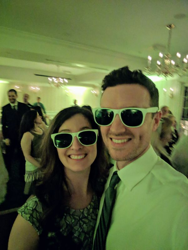 Being Silly at a Friend's Wedding