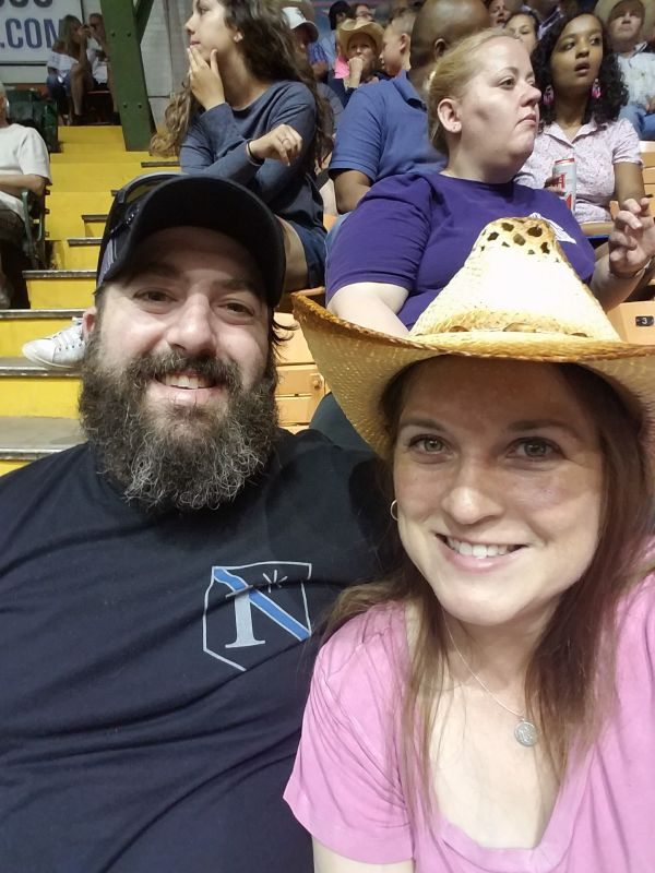 Enjoying the Rodeo in Forth Worth, Texas