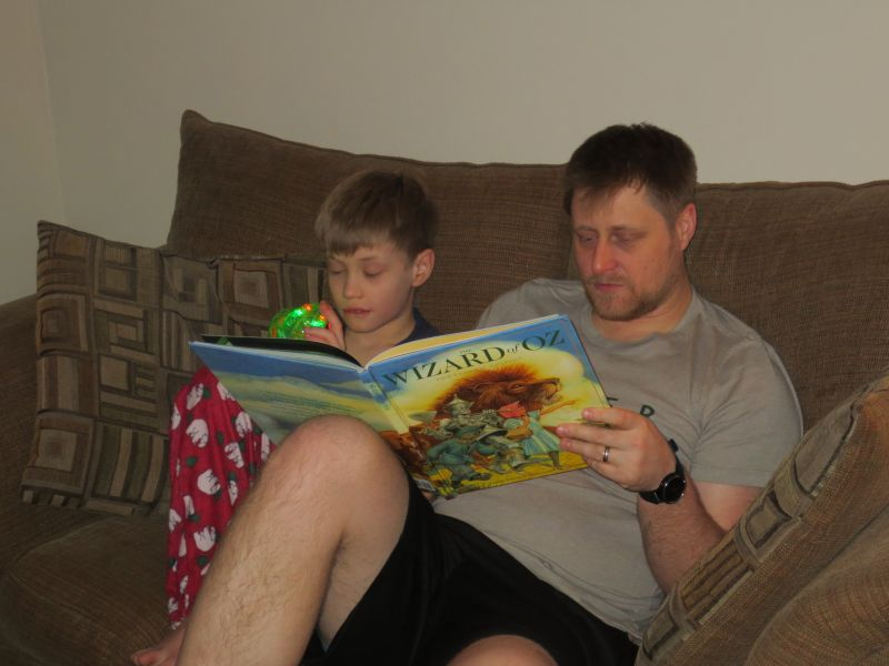 Adam & Israel Reading Before Bed