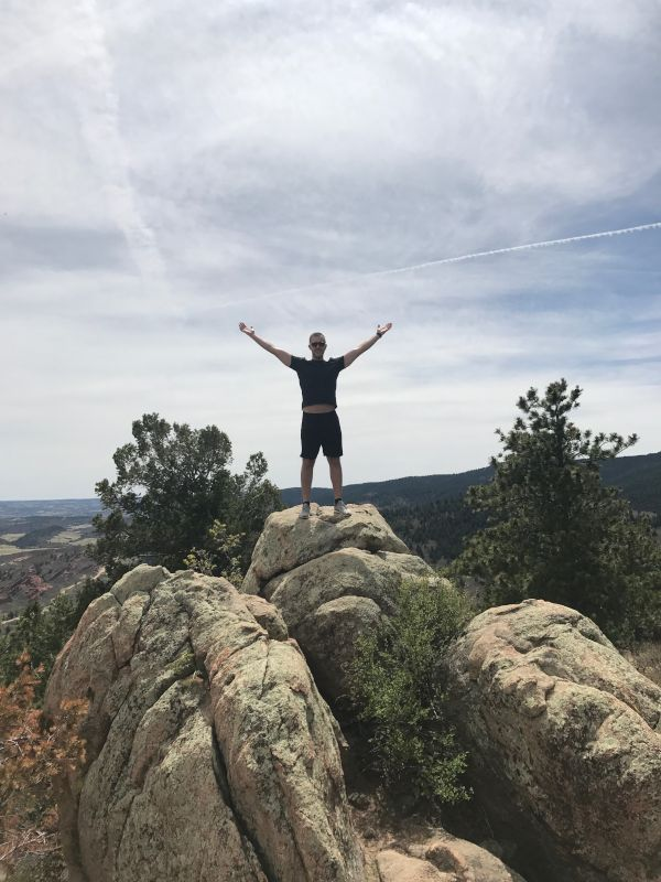 Chad Hiking in Colorado