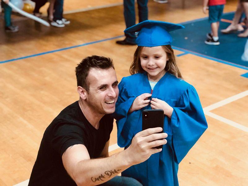 At Emma's Graduation