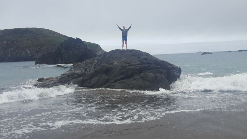 Hannah in the Ocean