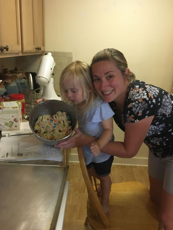 Baking M&M Cookies With My Niece!