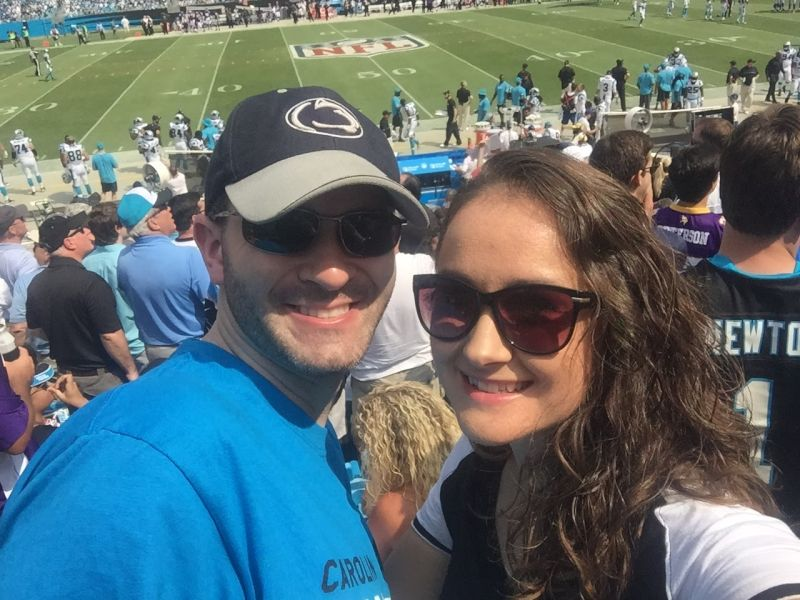 Having a Blast at a Carolina Panthers Game