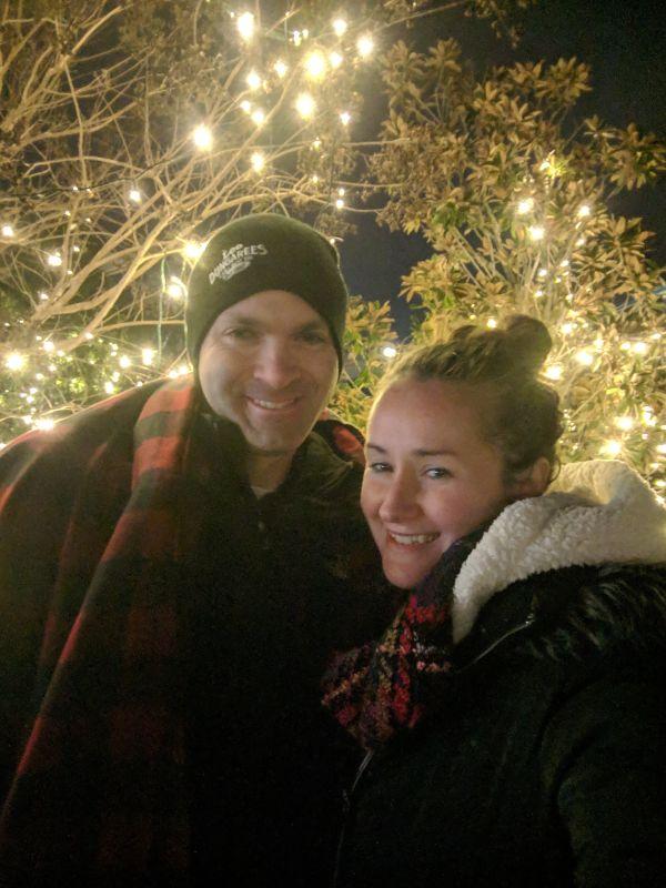 Enjoying Christmas Lights