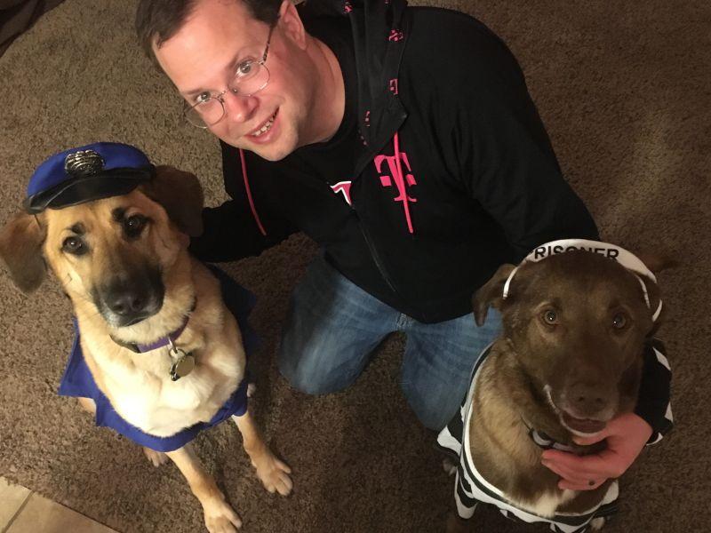 Josh & the Dogs on Halloween