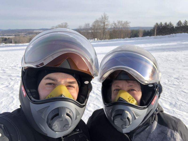 Snowmobiling Selfie