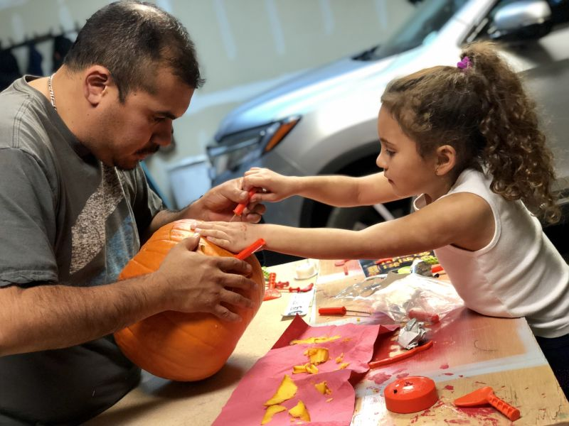 Pumpkin Carving With Daddy