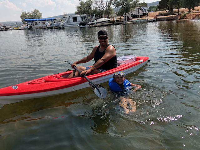 We Love to Kayak at the Lake