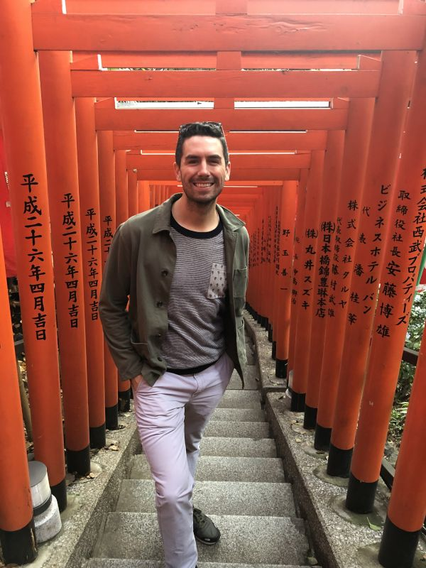 Brandon Visiting a Shrine in Japan