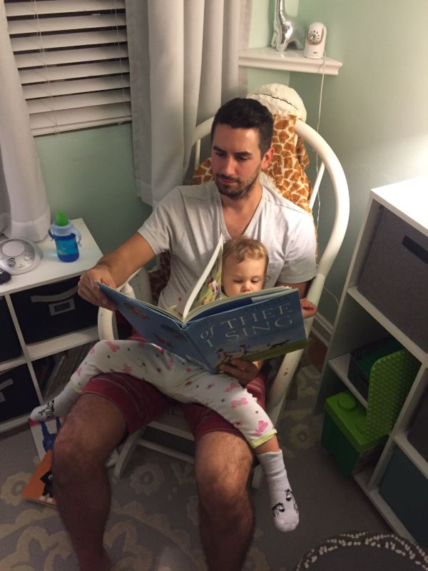 Brandon Reading Bedtime Stories