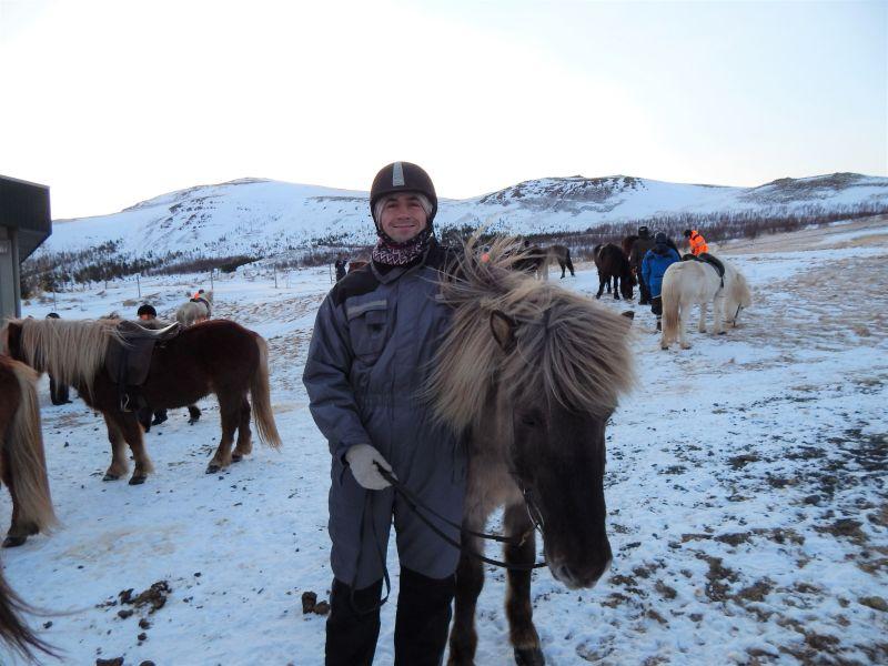 Brandon Horseback Riding in Iceland