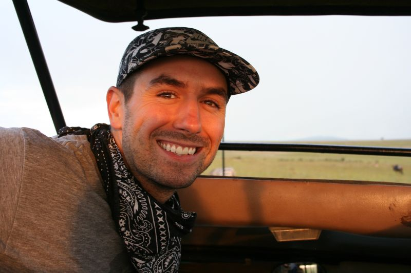 Brandon on Safari in Kenya