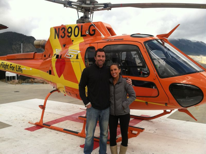 Helicopter Ride Over the Rocky Mountains
