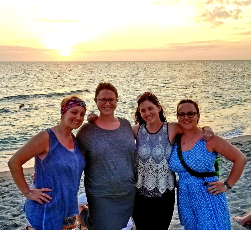 Sunset in Florida With Brianna's Best Friends
