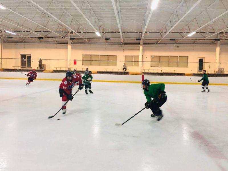 Nick Playing Hockey