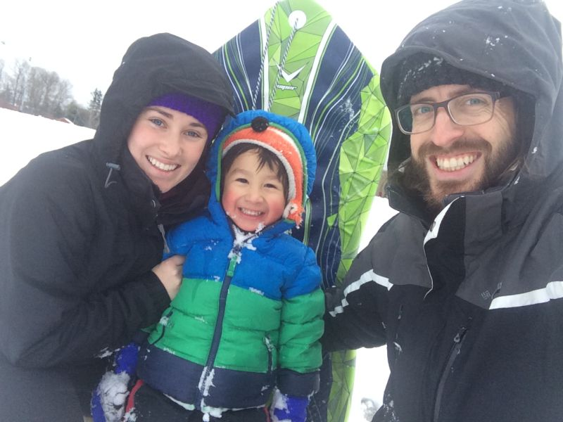 Sledding as a Family