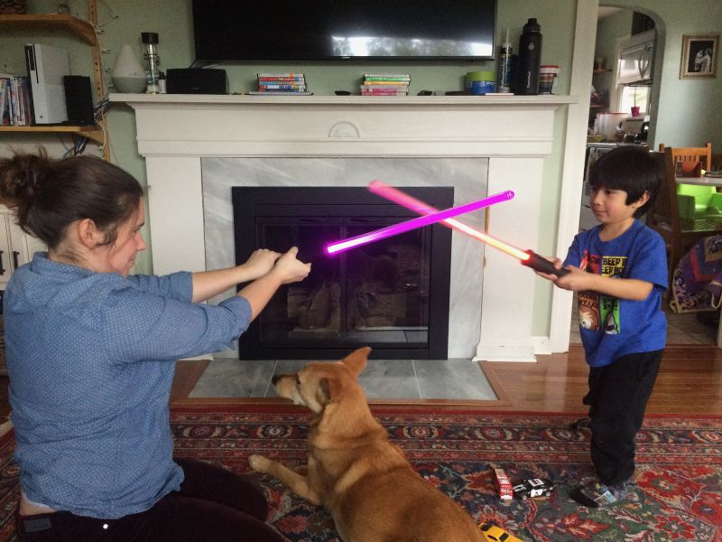Lightsaber Duel in the Living Room!