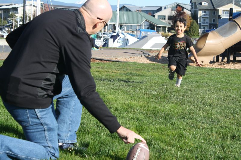 Playing Football with Jon's Dad