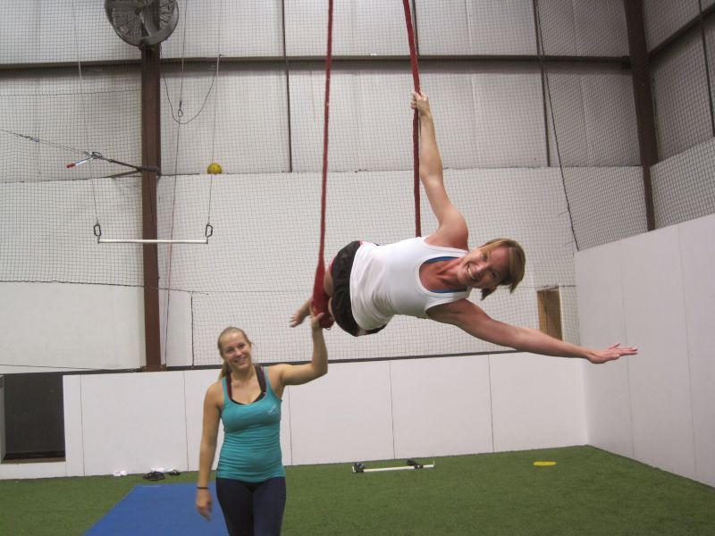 Heather at a Local Trapeze Gym