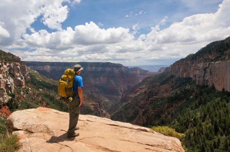Rob Hiking Across the Grand Canyon