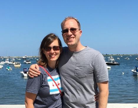 Enjoying the Harbor at Plymouth Rock