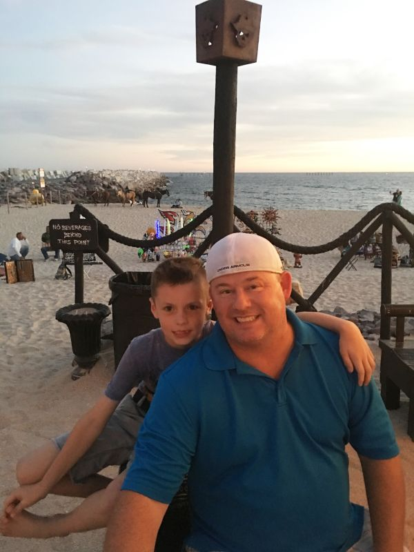 Eddie and Jack Having Fun on the Beach in Mexico