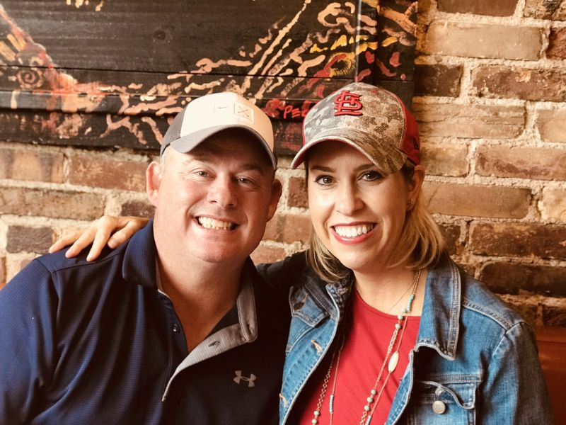 Heather and Eddie are HUGE St. Louis Cardinals Fans