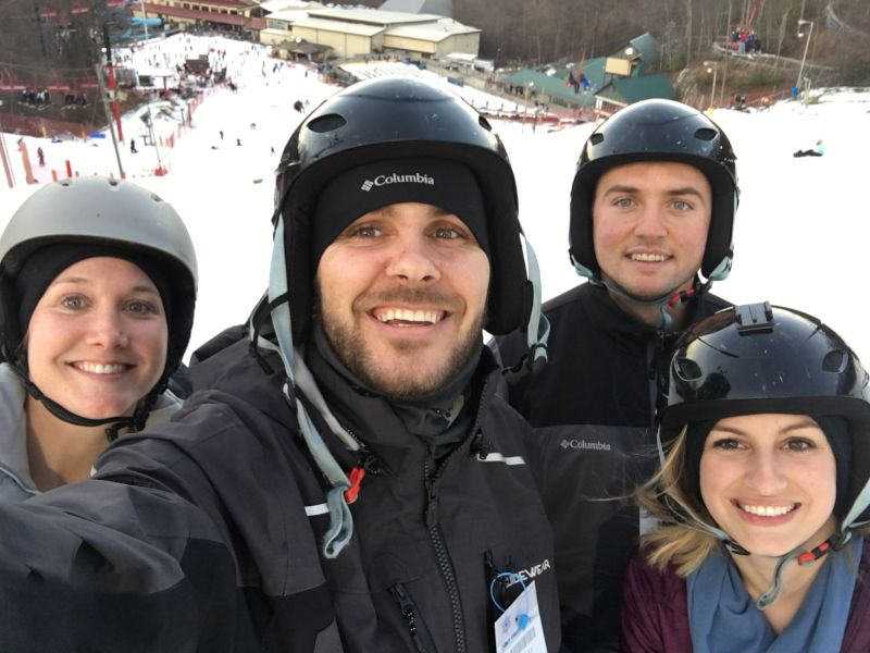 Skiing With Family