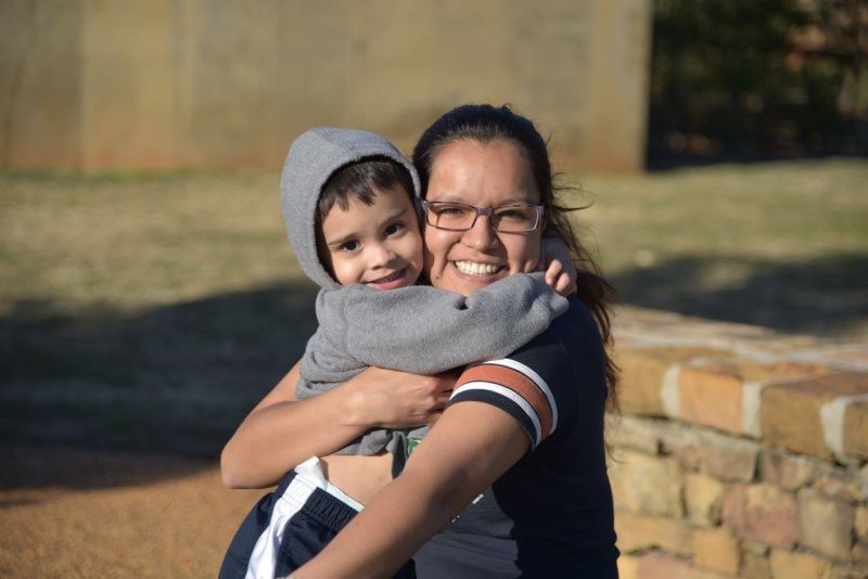 Cathy with Her Godson