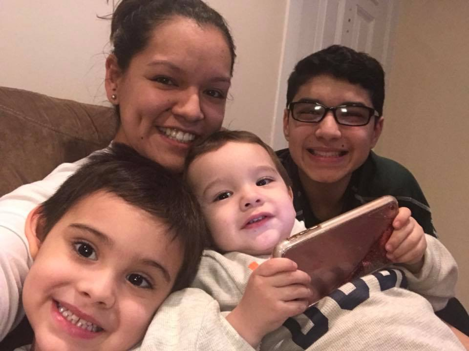 Cathy with Her Nephews