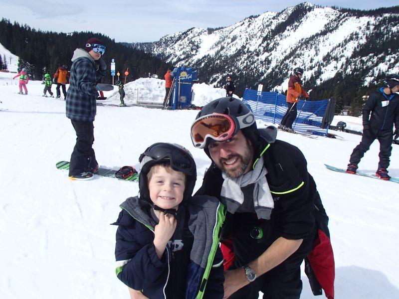 Teaching Our Nephew How to Ski